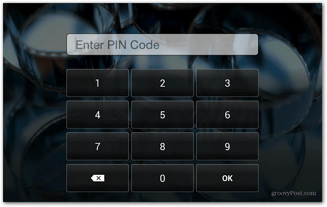 Kindle Fire HD Lock Screen Enter PIN