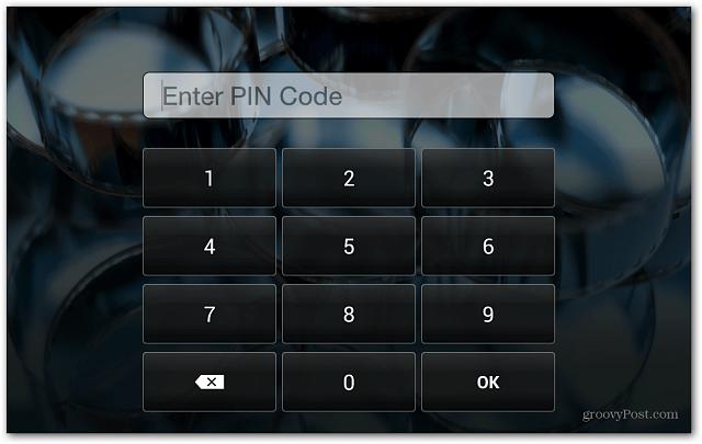 Kindle Fire HD Lock Screen Enter PIN