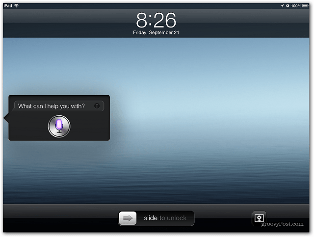 Launch Siri in iOS 6