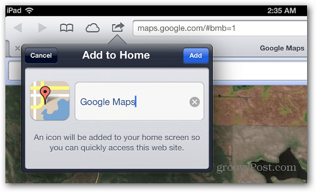 Name Google Maps icon