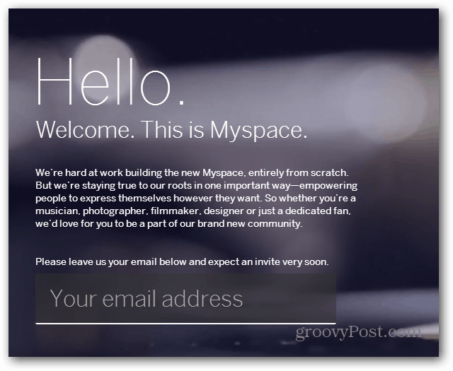 New MySpace Sign up