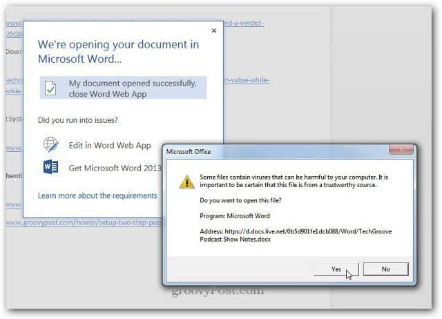 Open in Word Desktop