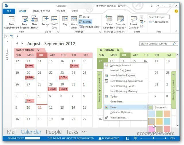 Outlook 2013 Calendar Color