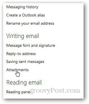 Outlook Attachments