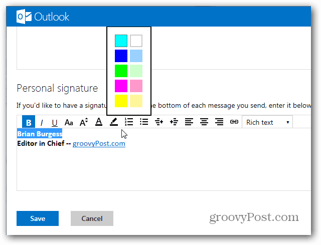 how to create signature in outlook email