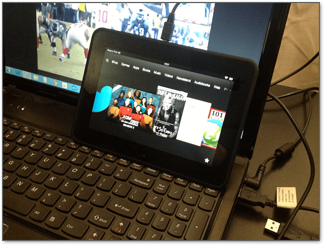 Plug in Kindle Fire HD Windows 8