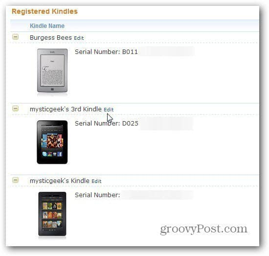 Registered Kindles