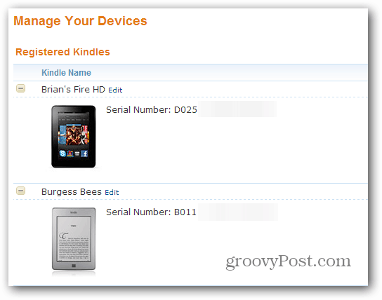 Registered Kindles'