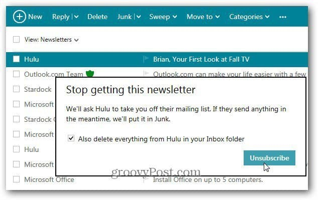 Stop Getting this Newsletter