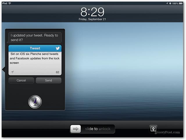 Tweet from Siri