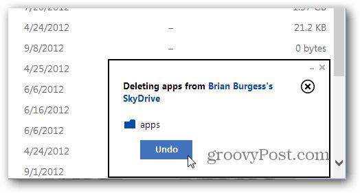 Undo Option