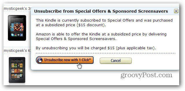Unsubscribe Special Offers