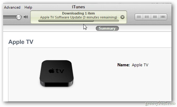 Upated Apple TV via iTunes