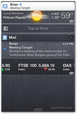 VIP notification iOS 6