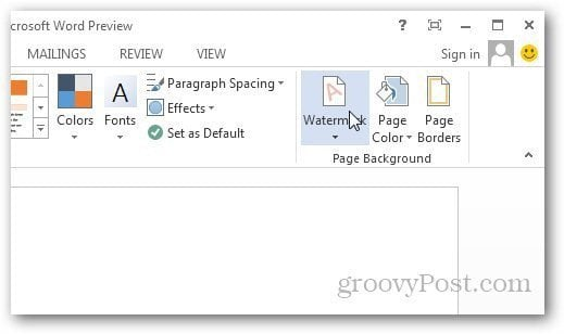 add draft watermark to pdf document