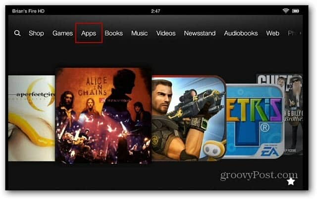 Change the Kindle Fire HD Search from Bing to Google
