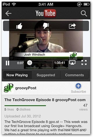 version of the YouTube App for iPhone and iPod touch today Download the iOS 6 Version of the YouTube App Today