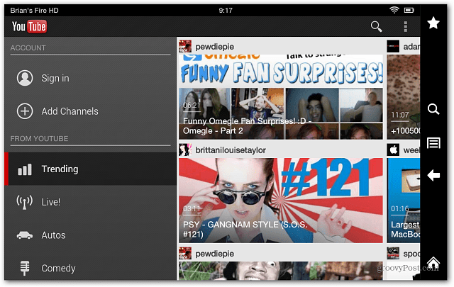 YouTube Kindle Fire HD