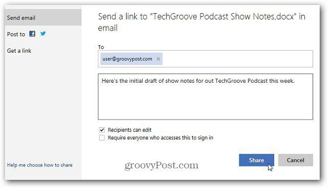 email link to share document