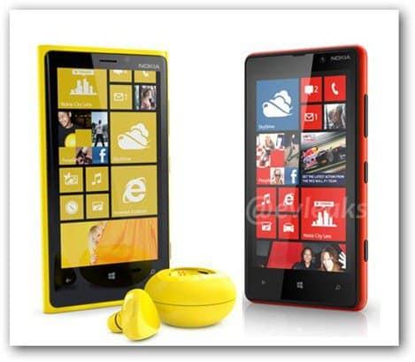 evleaks Lumia 820 Lumia 920 front