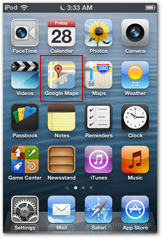 iOS 6 Google Maps icon