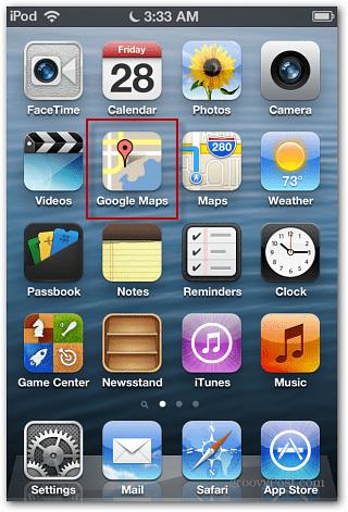 iOS 6 Google Maps icon