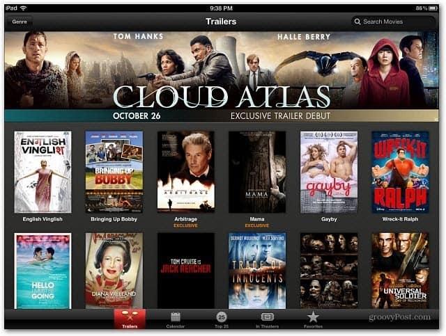 iTunes Trailers app