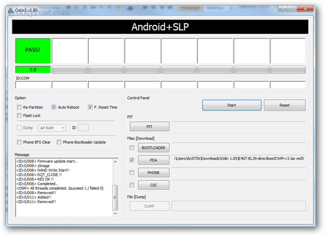 Pass it up to the android + slp