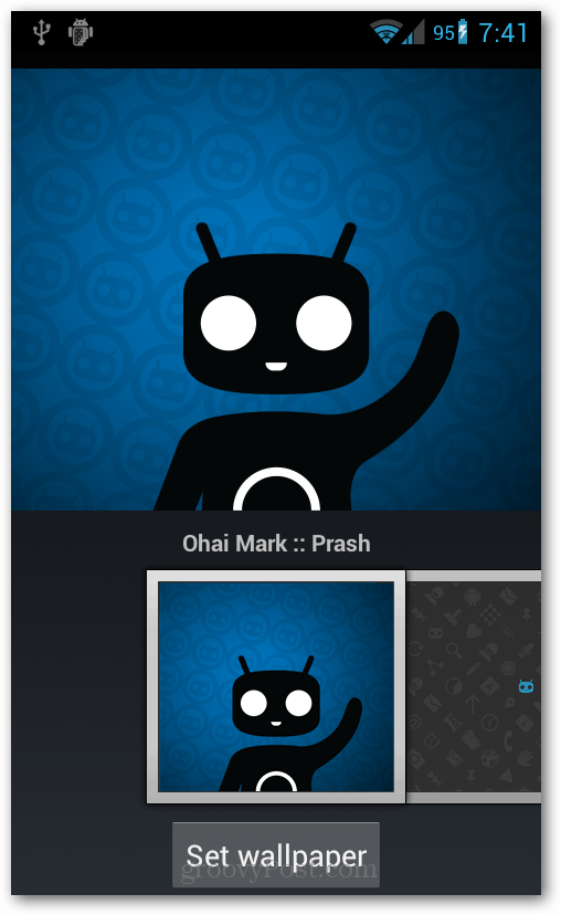 Running CyanogenMod Beta 1 on Epic Touch 4G