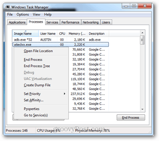 task manager context menu