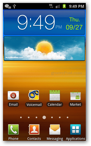 stock el29 homescreen
