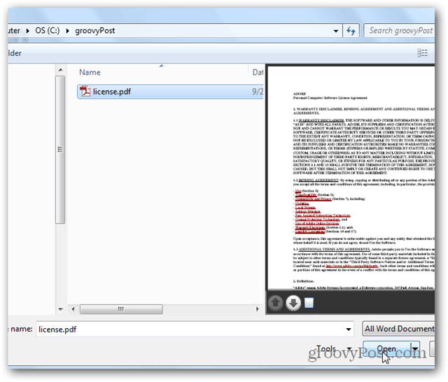 word 2013 - how to edit pdf files - open your file