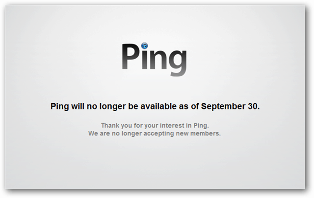 apple ping no longer available september 30