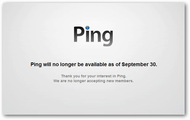 apple ping no longer available september 30