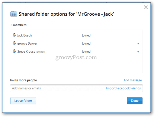 Dropbox for Teams shared folders