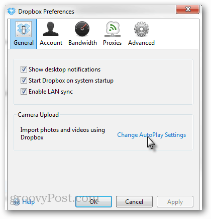 general autoplay settings
