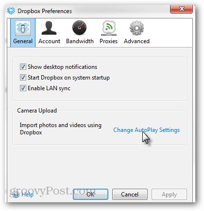 general autoplay settings
