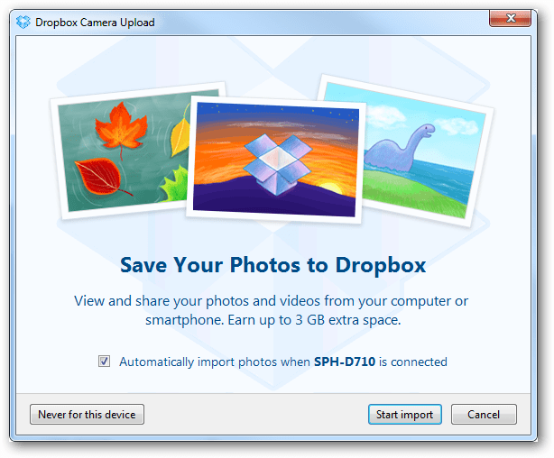 Disable Automaticly Saving your Photos to Dropbox
