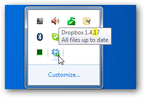 how to check dropbox version