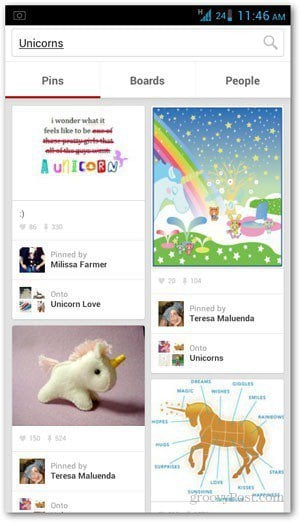 Pinterest launched its mobile app for Android Pinterest for Android [Review]