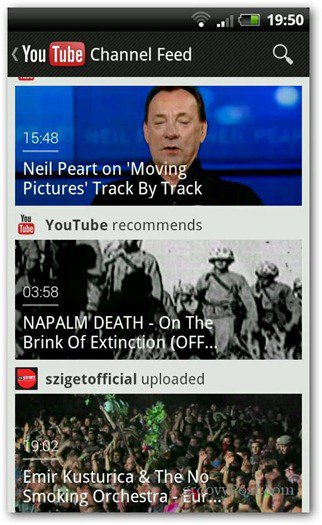 youtube android froyo gingerbread new interface