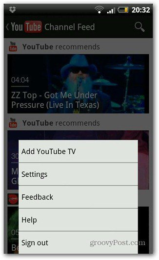 youtube android new version settings
