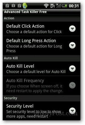 Easily Kill Running Background Apps in Android with Advanced Task Killer