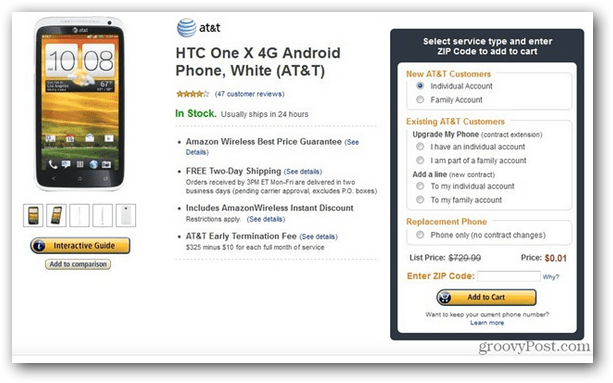 including the HTC One X for a penny each HTC One X on ATT for a Penny