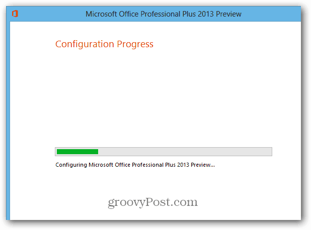Configuration Progress