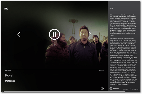 Control Playback on Windows 8