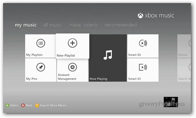 Create Playlist