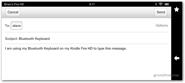 Email Kindle FIre HD