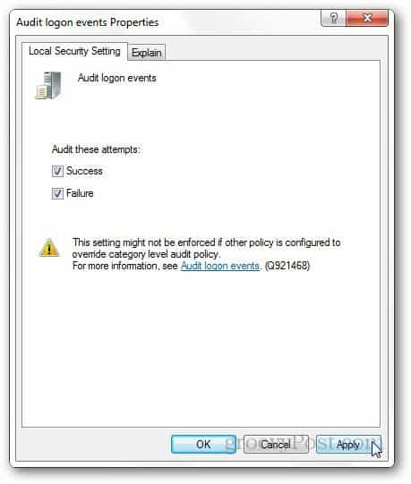 Check Successful or Failed Windows Login Attempts