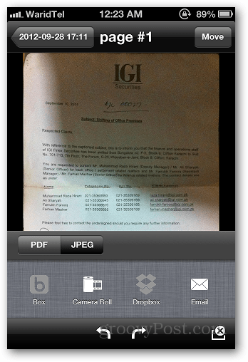 iOS Tip: Scan Documents and Email as PDF | groovyPost